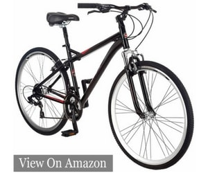 Schwann Men's Siro 700c Hybrid Bicycle, Black, 18-Inch Frame