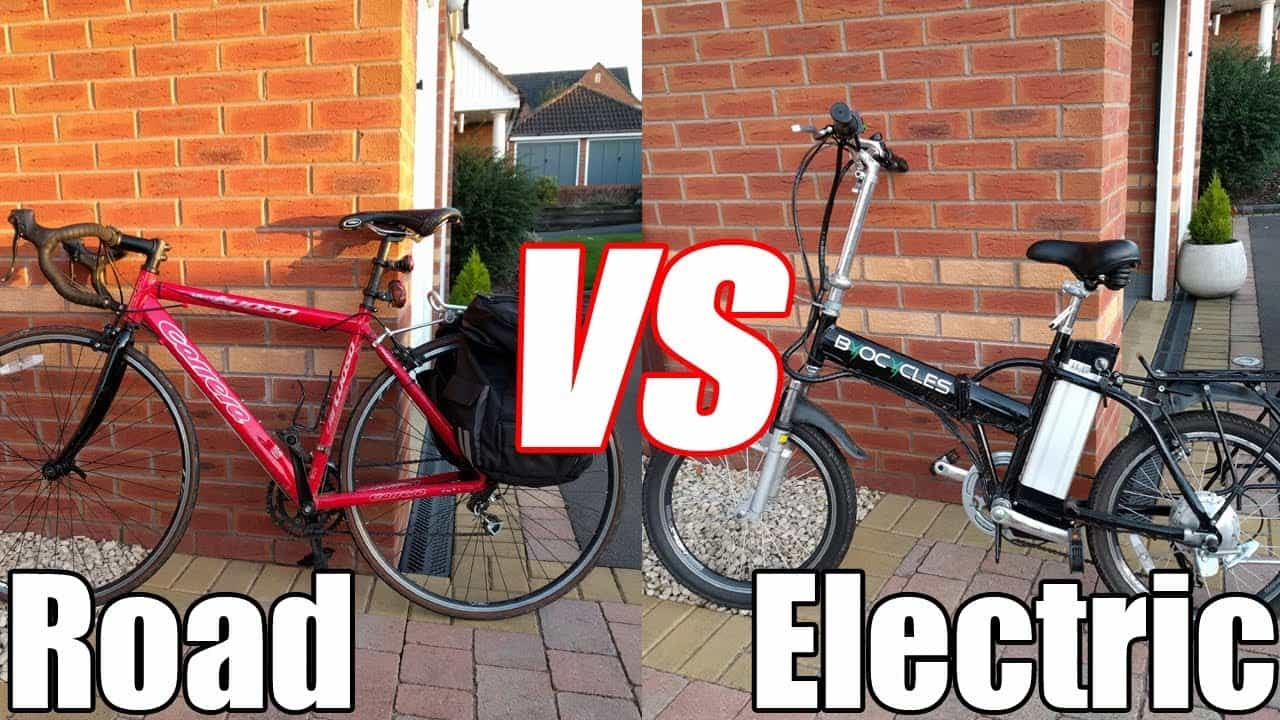 electric bike vs road bike