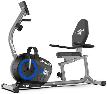pooboo Magnetic Recumbent Exercise Bike