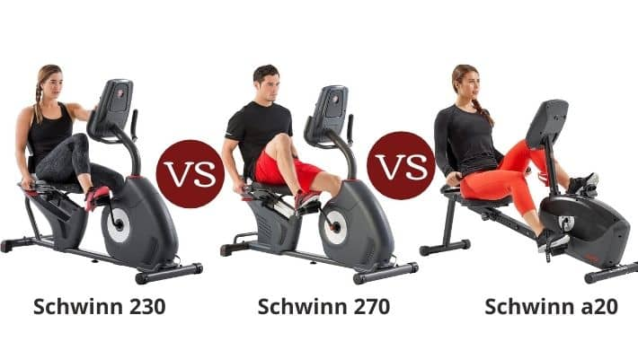 Schwinn 230 vs 270 vs A20 – Recumbent Bike Series