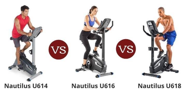 Nautilus U614 vs U616 vs U618 – Upright Bike Series