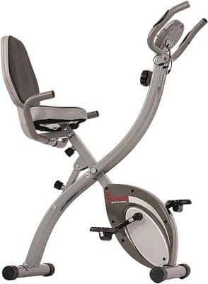 Sunny Health & Fitness Folding Exercise Bike Gray - SF-B2721