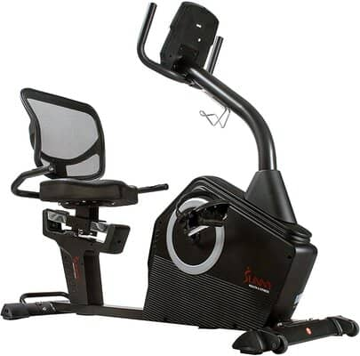 Sunny Health & Fitness Programmable Recumbent Bike