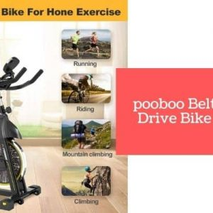 pooboo Indoor Cycling Bike – Belt Drive Exercise Bike