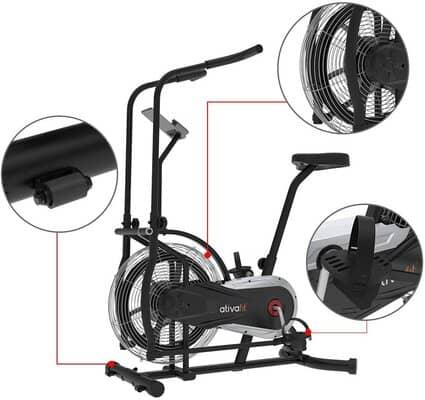 ativafit fan exercise bike